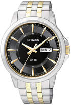 JCPenney Citizen Quartz Citizen Everyday Mens Two-Tone Stainless Steel Watch BF2018-52E
