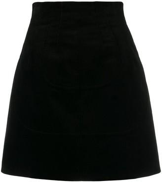 No.21 Corduroy Effect Short Skirt