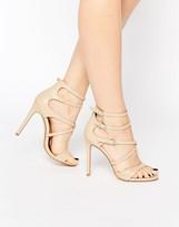 Boohoo Multi Strap Heeled Sandal