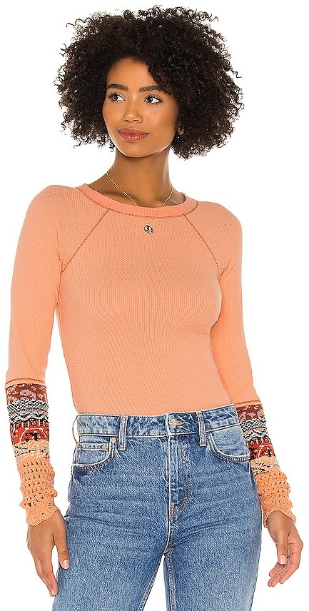 Thumbnail for your product : Free People In The Mix Cuff Top