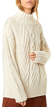 French Connection Nissa Chunky Cable-Knit Sweater