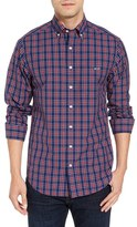 Vineyard Vines Men's Poinsettia Slim Fit Plaid Sport Shirt