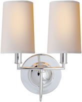 Visual Comfort & Co. Elkins Double Sconce, Polished Silver
