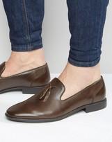 Asos Tassel Loafers in Brown
