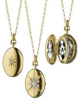 Monica Rich Kosann 18k Gold Diamond Star Locket Necklace