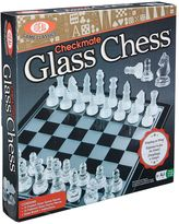 Ideal Checkmate Glass Chess Game Set