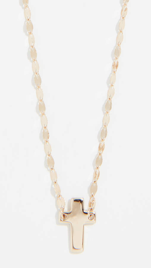Lana 14k Mini Cross On Blake Chain Necklace