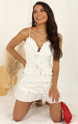 Showpo Raise A Glass dress in white - 8 (S) Going Out Outfits