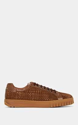 Salvatore Ferragamo Men's Cube 17 Suede Sneakers - Brown