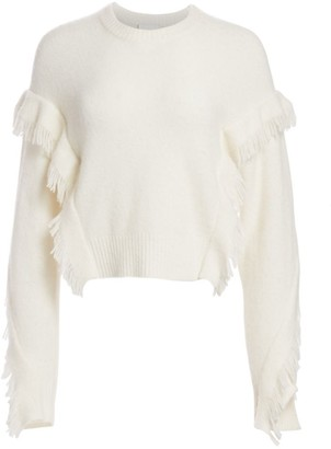 3.1 Phillip Lim Fringe-Trim Crewneck Sweater