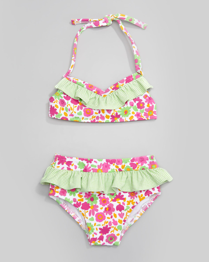 Florence Eiseman Sunny Side Up Floral Two-Piece Swimsuit