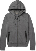 Bottega Veneta - Slim-fit Fleece-back Cotton And Wool-blend Jersey Zip-up Hoodie