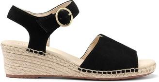 Hotter Fiji Wedge Ankle Strap Sandals - Black