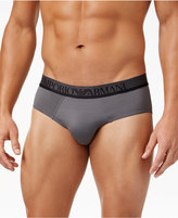 Emporio Armani Men's Striped Microfiber Briefs