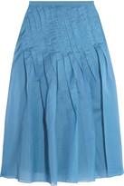 Tibi Isa pleated organza skirt