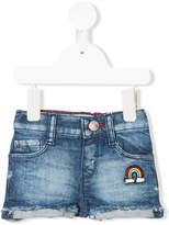 Levi's Kids rainbow motif denim shorts