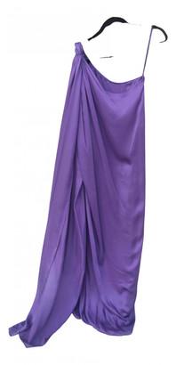 Carolina Herrera Purple Silk Dresses