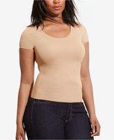 Lauren Ralph Lauren Plus Size Scoop Neck T-Shirt