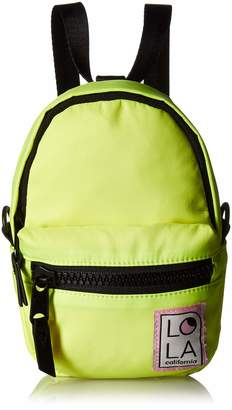 LOLA Cosmetics Neon Convertible Mini Backpack