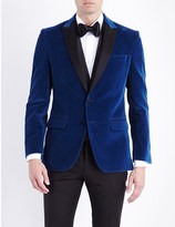 HUGO BOSS Slim-fit cotton velvet jacket