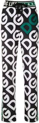 Dolce & Gabbana logo print track pants