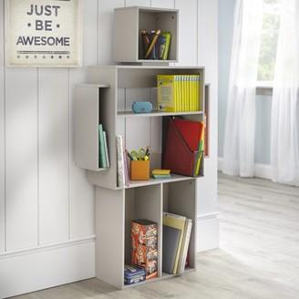 TMS Mainstays Kids Robot Shaped Bookshelf, Robot Gray Color