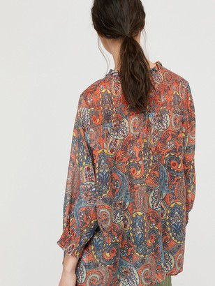 Monsoon Phoenix Paisley Print Blouse - Orange