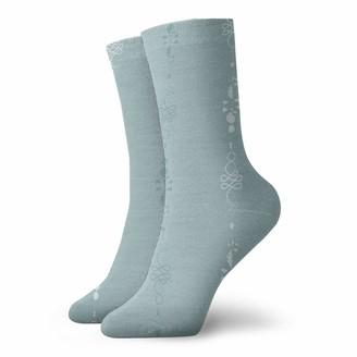 Dearl Malibu Blue Unalome Negative Space Colorful Gift Socks Casual Winter Warm Hiking Cozy Socks Crew Socks Unisex for Children Teens Adults