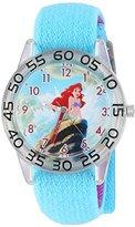 Disney Girl's 'Ariel' Quartz Plastic and Nylon Automatic Watch, Color:Blue (Model: W002909)