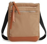 Lodis Zora Rfid Nylon & Leather Crossbody Bag - Brown
