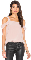Tibi Cut Out Sleeve Tank