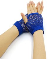 uxcell® Women Wrist Length Stretchy Fingerless Fishnet Gloves 2 Pairs