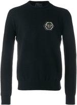 Philipp Plein logo sweatshirt - men - Polyester/Viscose - S