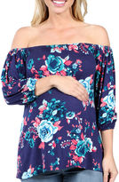 24/7 Comfort Apparel Twilight Garden Tunic Top Maternity