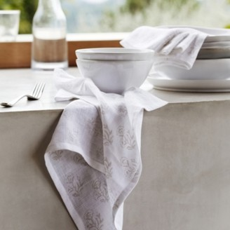 The White Company Summer Print Napkins Set of 4, White Natural, One Size