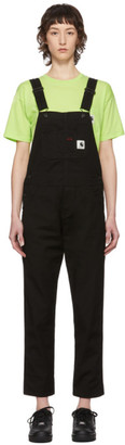 Carhartt Work In Progress Black Bib Overalls