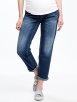 "Old Navy Maternity Full-Panel Cropped Boyfriend Jeans (24"")"
