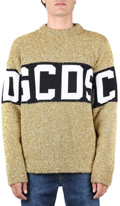 GCDS Lurex Fabric Jumper With Front Logo