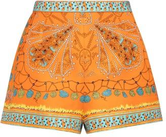 Emilio Pucci High-rise printed silk shorts