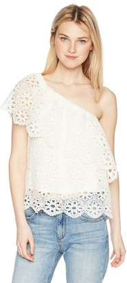 Jack by BB Dakota Junior's Lolita Floral Eyelet Top with Tricot Lining