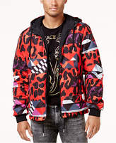 Versace Men's Graphic Print Hooded Reversible Jacket