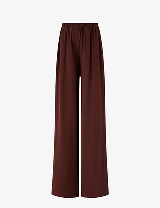 Joseph Taffy relaxed-fit high-rise silk-satin trousers