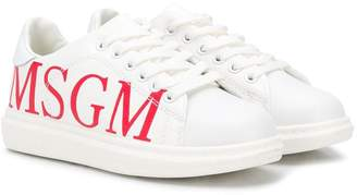 MSGM Kids side logo sneakers