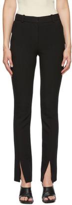 Victoria Beckham Black Front Slit Skinny Trousers