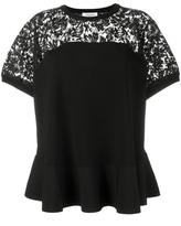 Valentino lace panel top - women - Polyester/Viscose - S