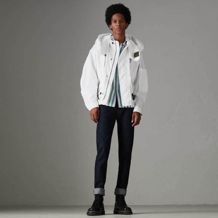 Burberry Detachable Hood Faille Jacket
