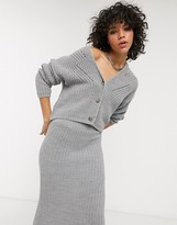 Asos Design DESIGN chunky cropped cardigan in moving rib co-ord