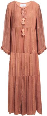 SUNDRESS Embellished Gauze Maxi Dress