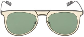 Salvatore Ferragamo Metal Aviator Sunglasses
