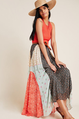 Margot Pleated Maxi Skirt By Verb by Pallavi Singhee in Assorted Size 0